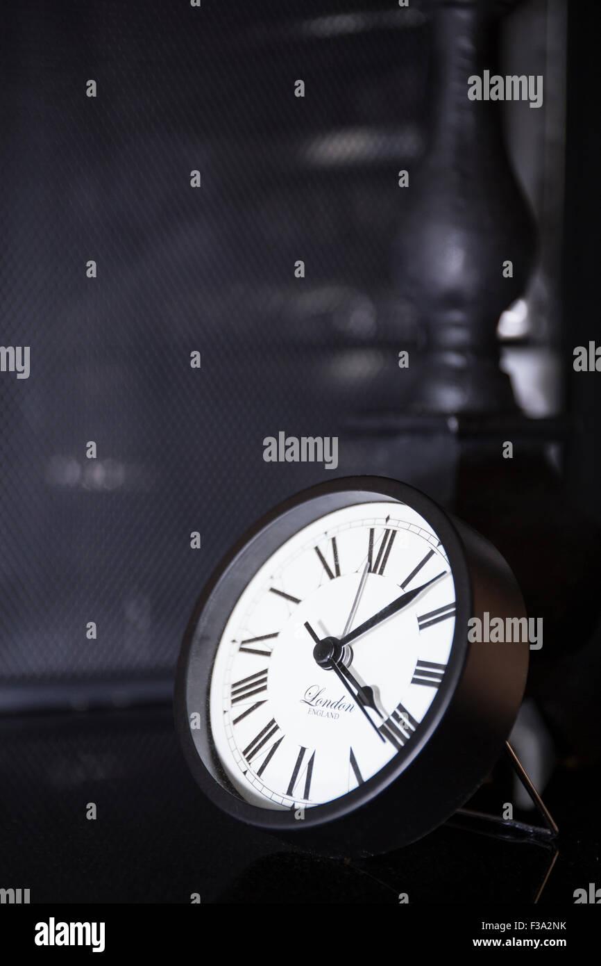 Classic modern roman numeral clock - Stock Image