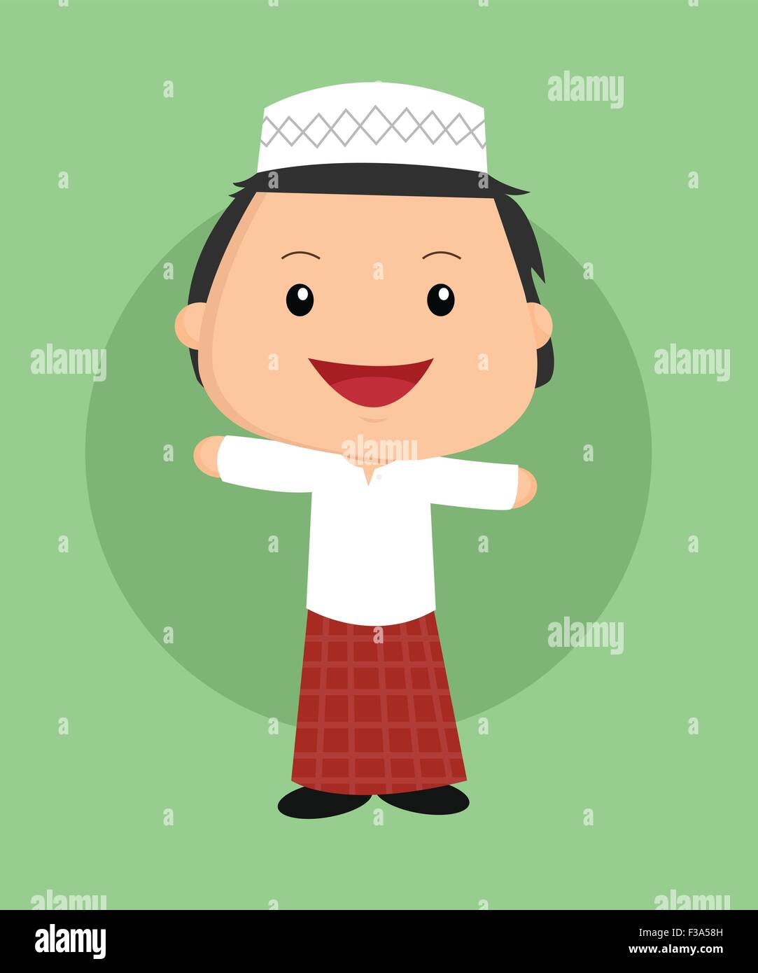 cute islamic boy Stock Vector