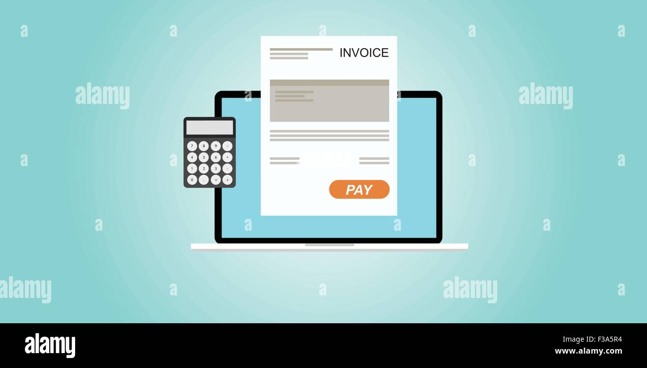 Digital Invoice Stock Vector Art Illustration Vector Image - Digital invoice
