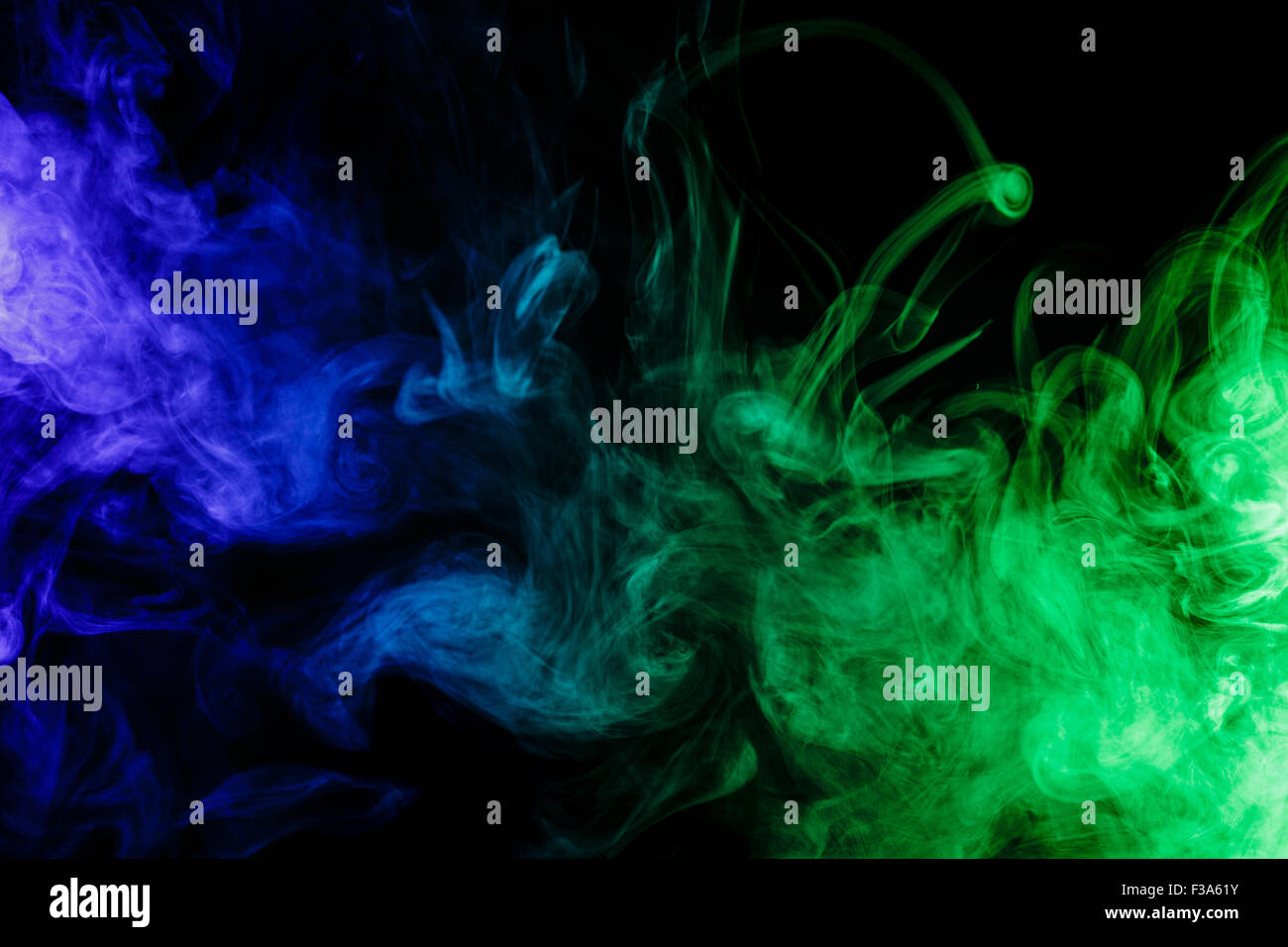 Abstract Art Blue Green Smoke Stock Photos & Abstract Art Blue Green ...
