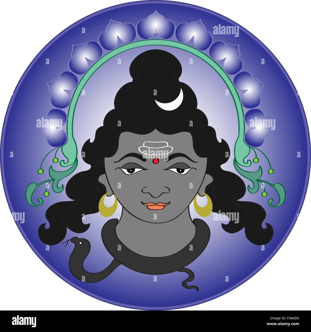 Shiva The Hindu God Vector Art Stock Vector Art