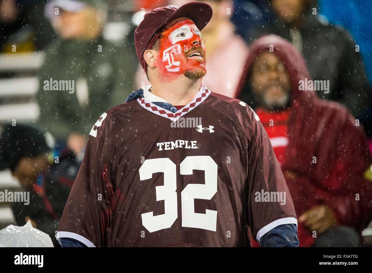 classic fit f55aa 631b2 A Temple fan during the NCAA college football game between ...