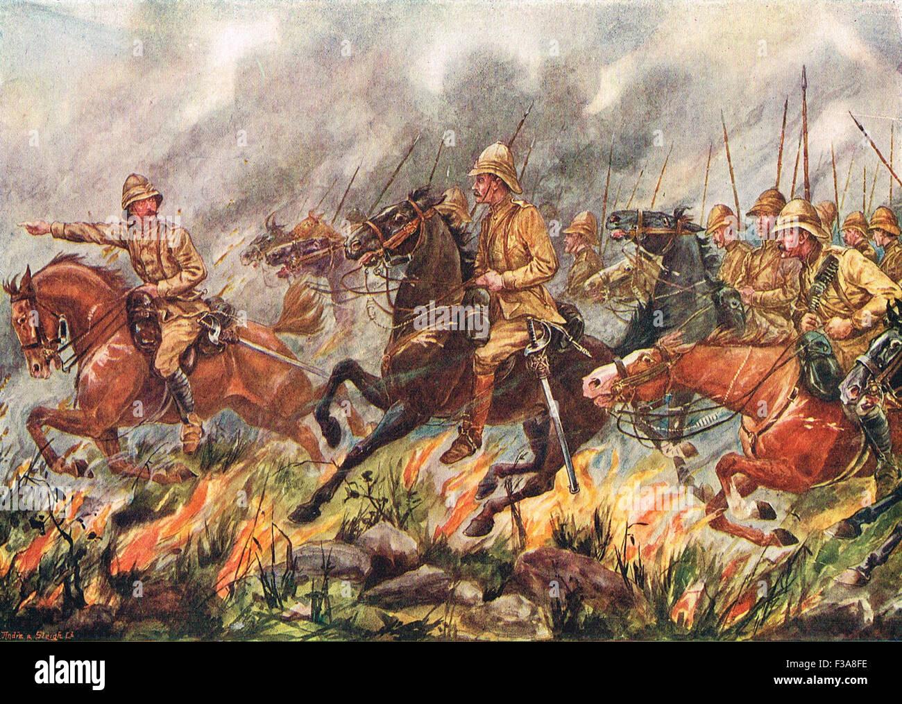 Lord Dundonald's ride flames Boer War - Stock Image