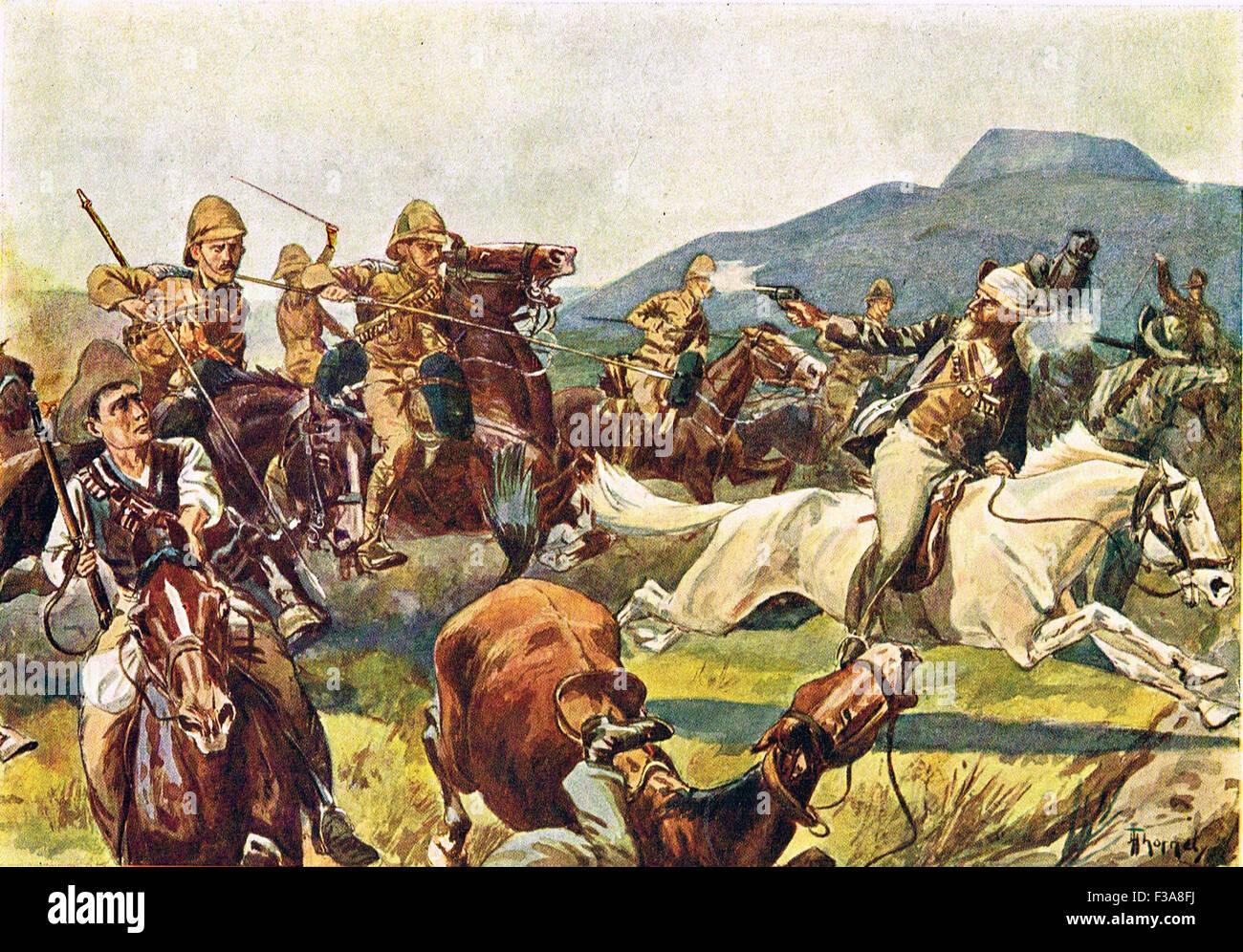 The charge at Elandslaagte Boer War 1899 - Stock Image