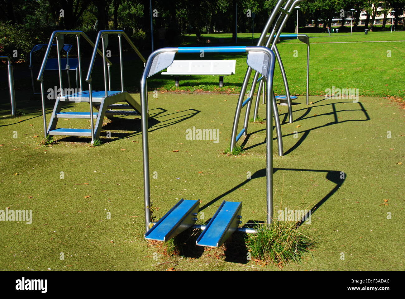 Fitness equipment in our local park - photo was taken in Utrecht The Netherlands - Stock Image