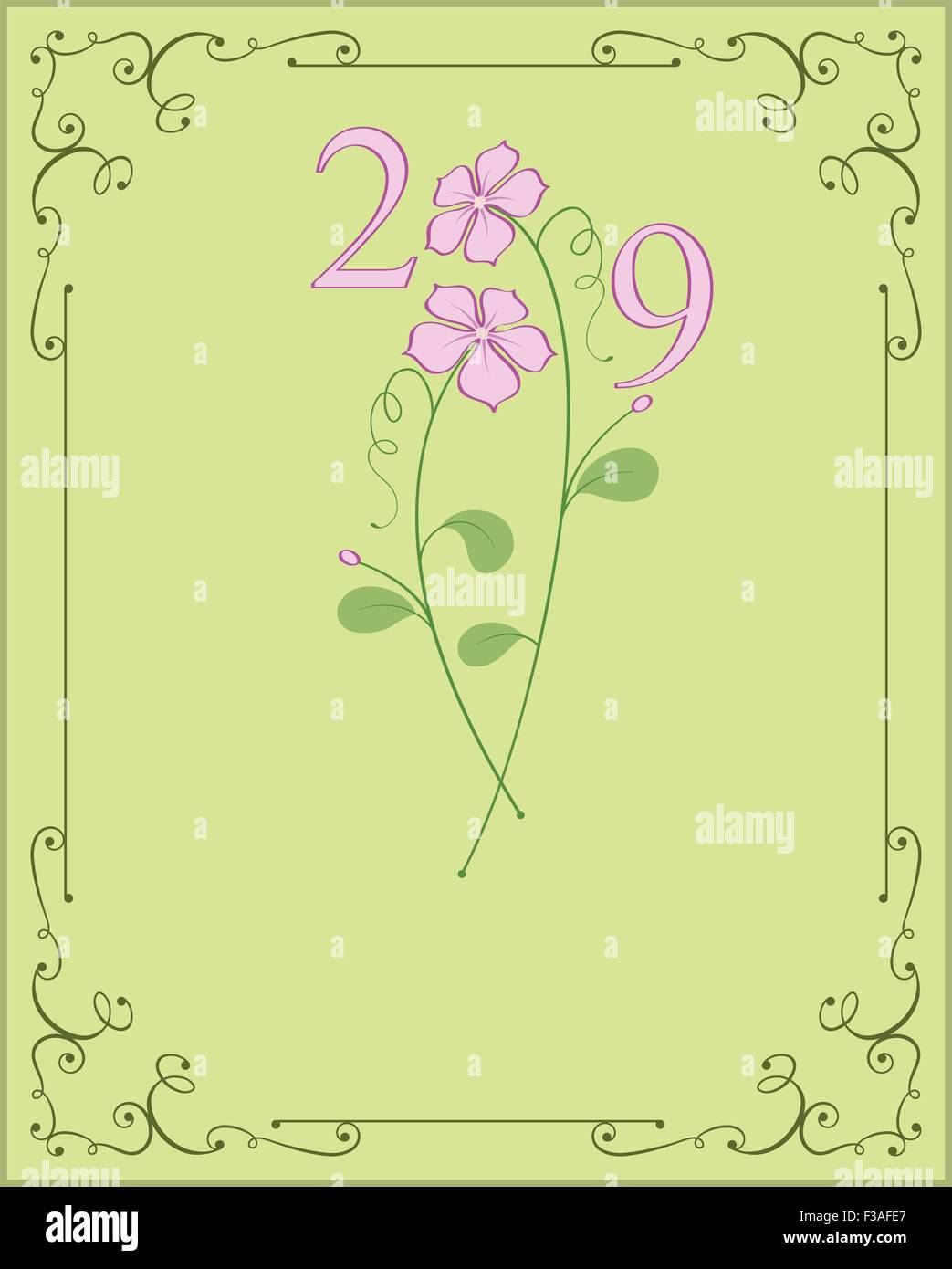 Happy New Year Design Vector Art - Stock Vector