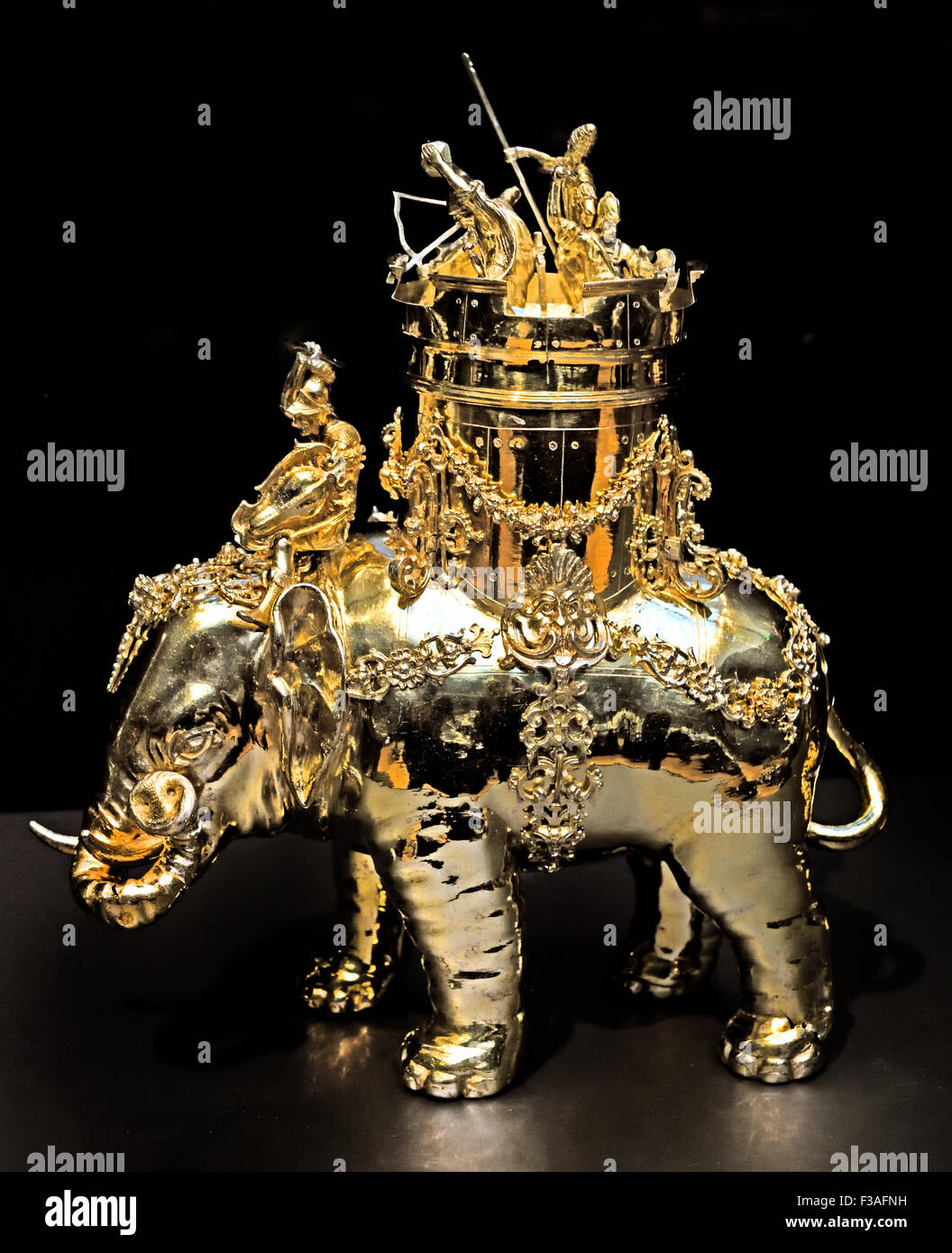 Jug in the shape of a war elephant, Wolff 1615 Christof Ritter 1648 - 1616 Neurenberg German Germany ( This object - Stock Image