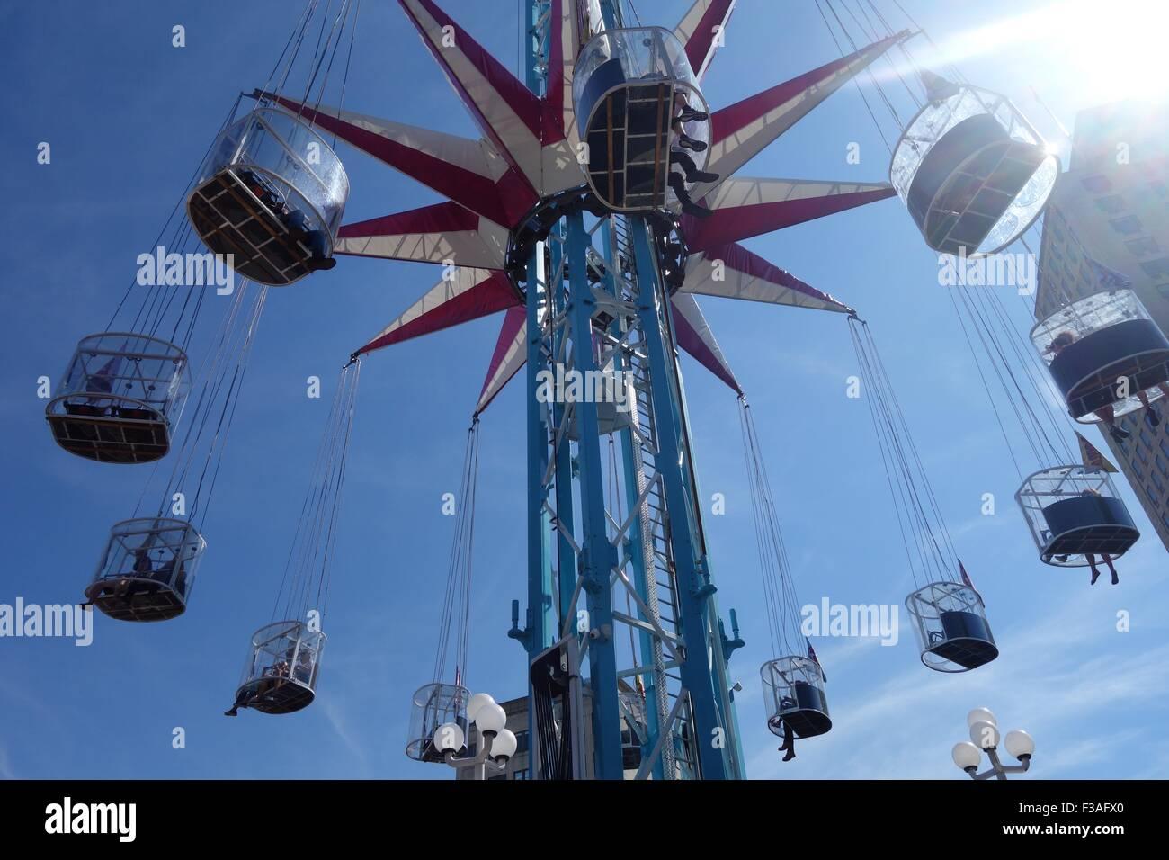 Starflyer (Skyflyer) , London Wonderground, Jubilee Gardens, Waterloo, London, UK Stock Photo