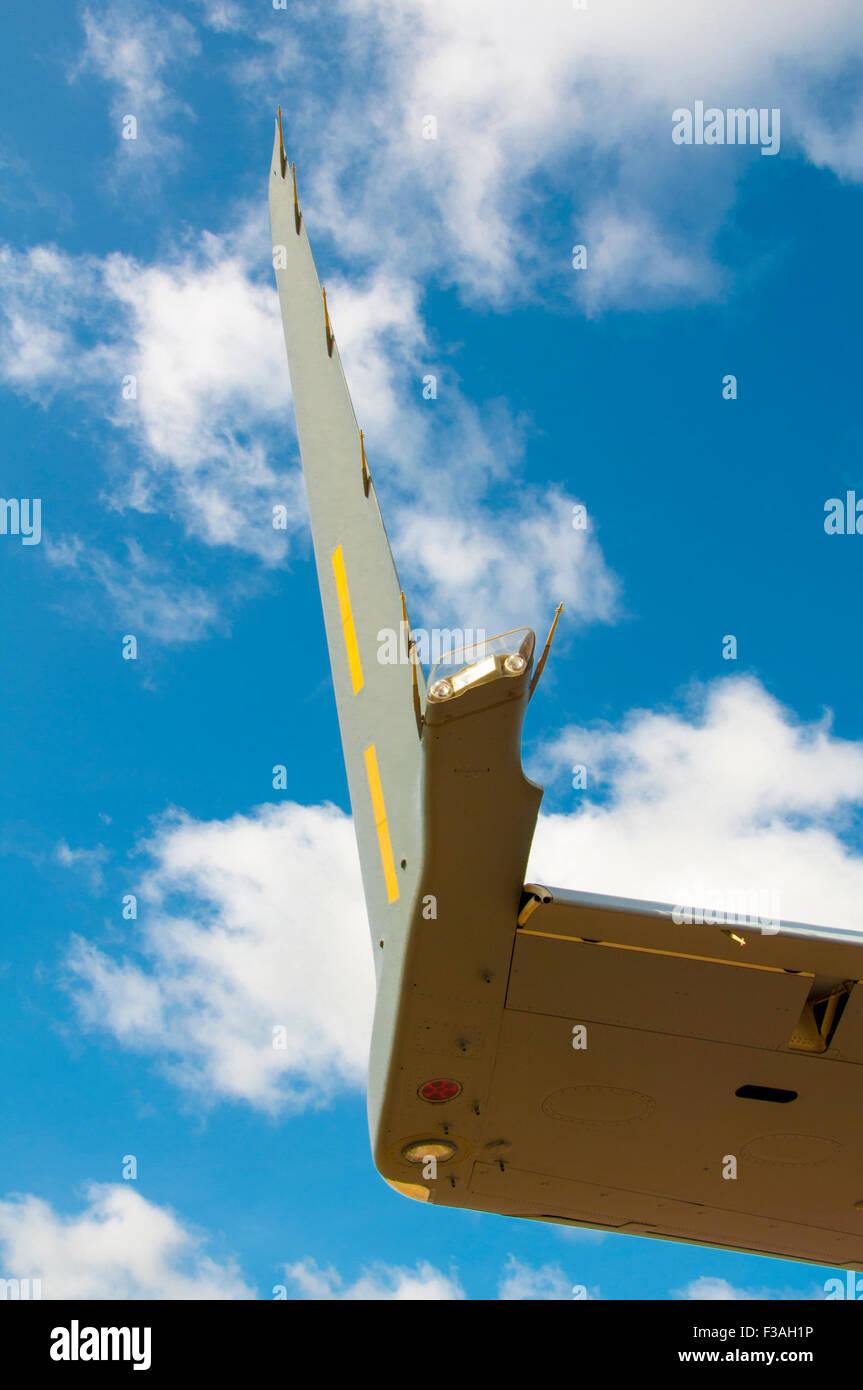 Close-up of port winglet on McDonnell Douglas/Boeing C-17 Globemaster III - Stock Image