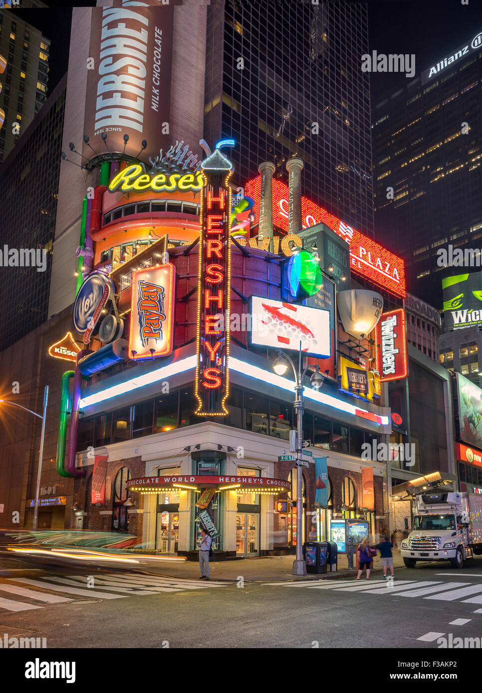 Hershey's Store In Times Square New York Stock Photo