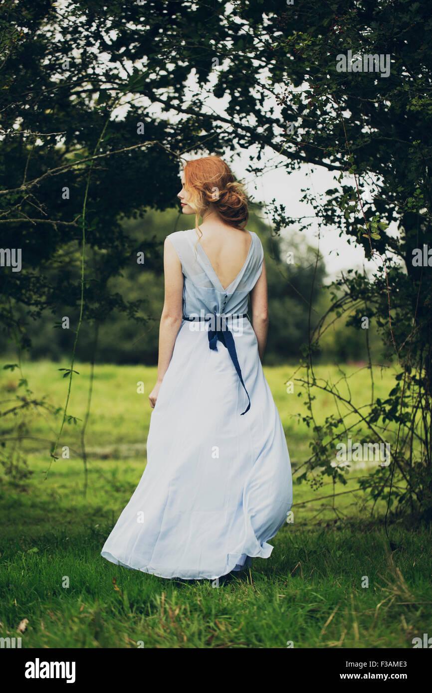 Beautiful ginger historical girl Stock Photo
