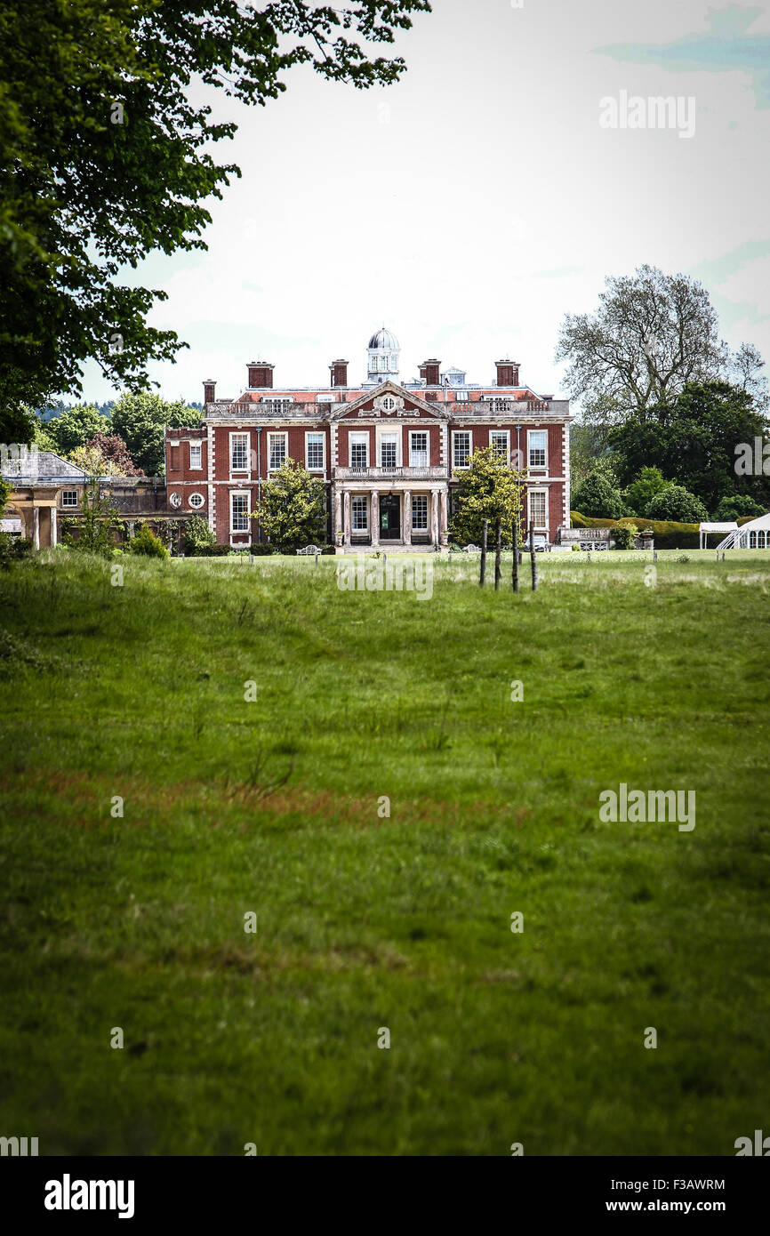 Stansted House a beautiful country House Stately Home set in Sussex in the English country side. - Stock Image
