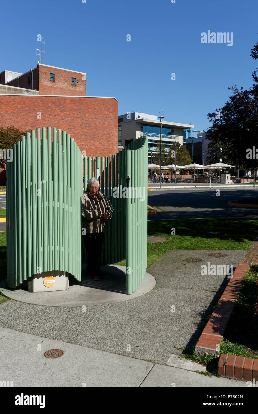 Spiral Shaped Outdoor Public Toilet Urinal At Pandora And Government Victoria British Columbia