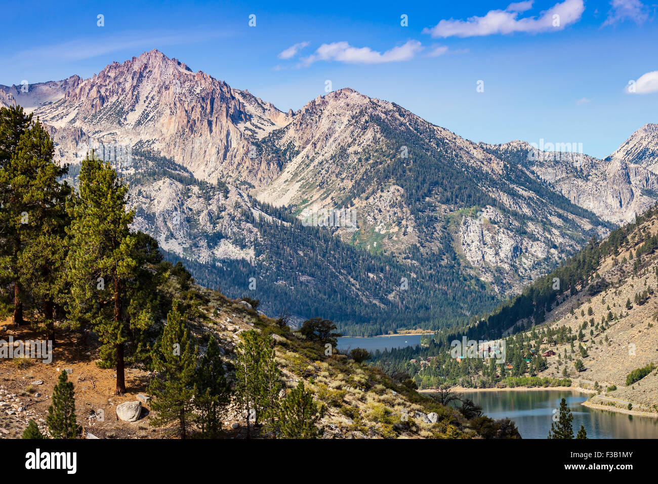 View of Twin Lakes, Bridgeport, California from Summers Meadows trail Stock Photo