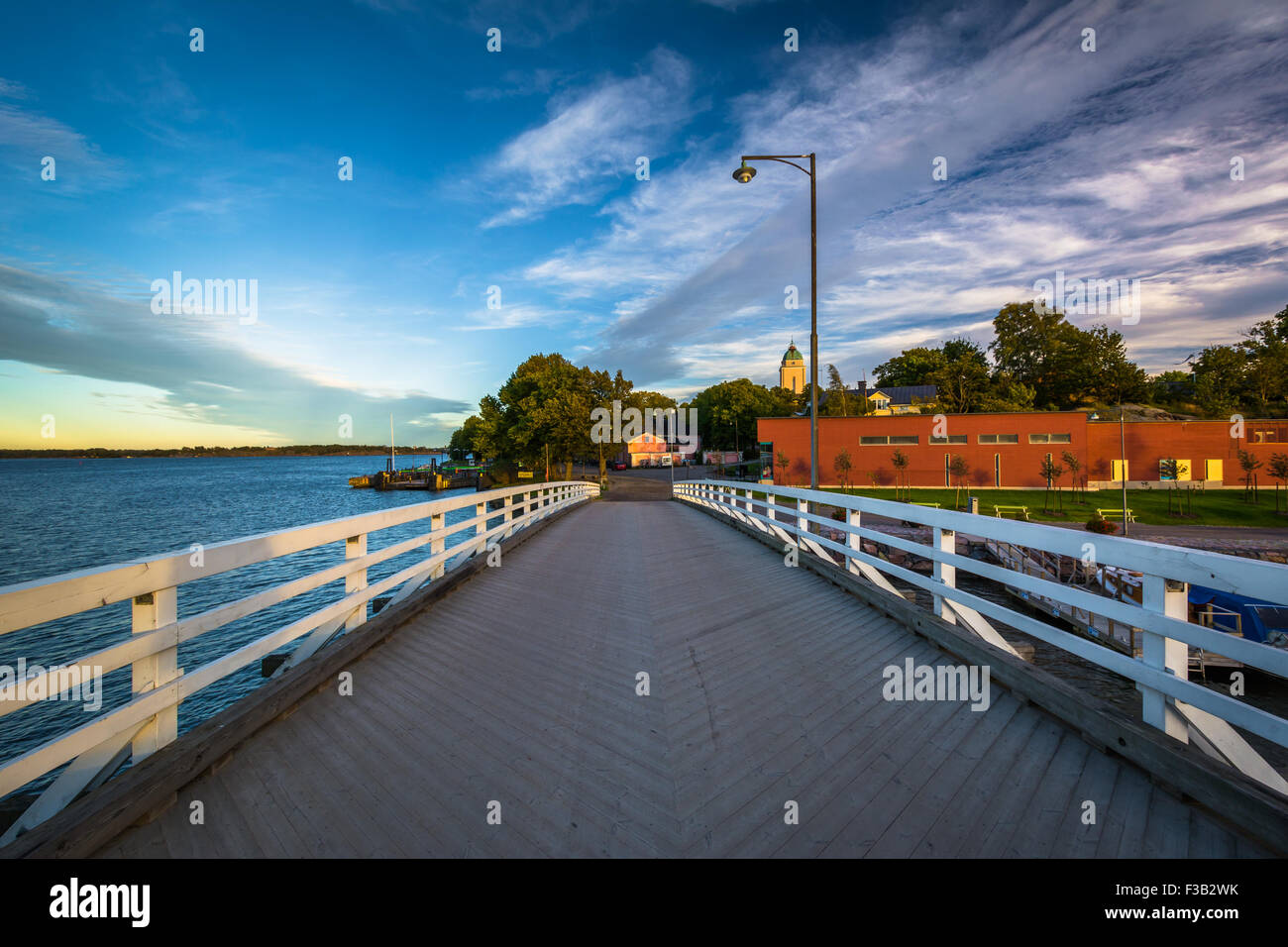 Bridge at Suomenlinna, in Helsinki, Finland. - Stock Image