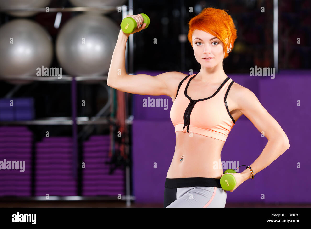 Redhead female fitness girls especial. have