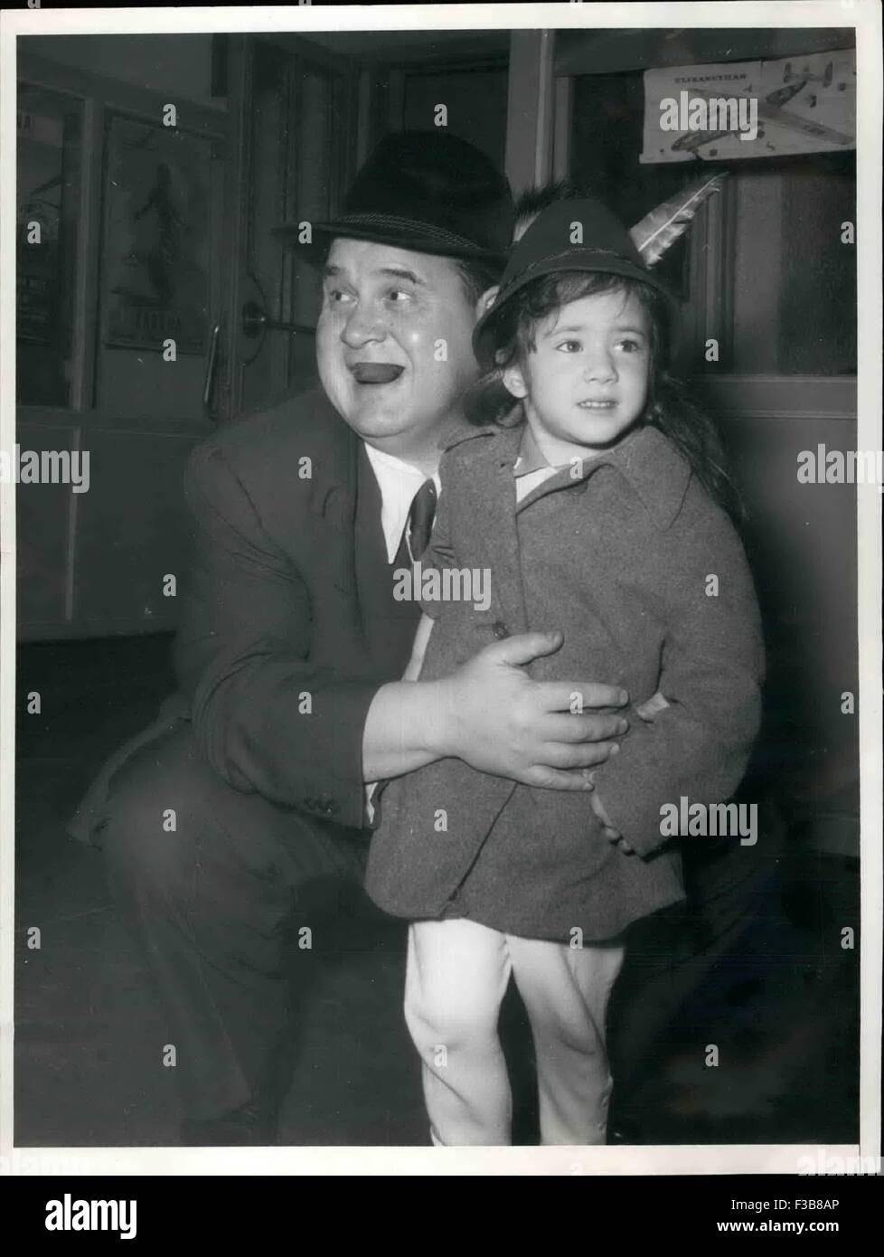 Jan. 04, 1962 - Frank King the chief of the film company 'King Brothers' flew from Munich Riem to Hollywood. - Stock Image