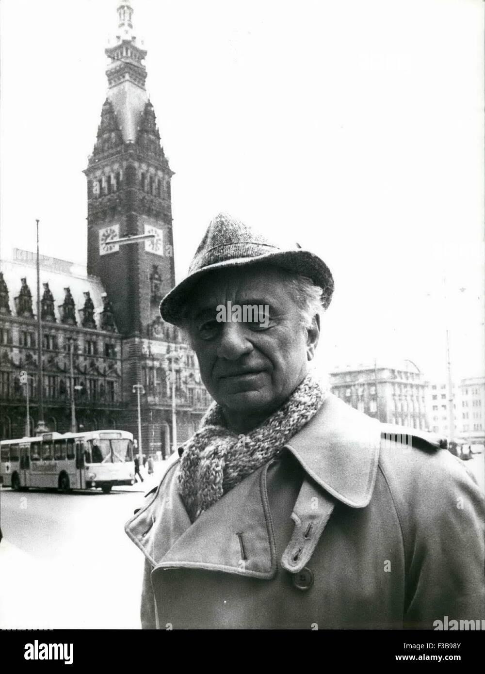 March 11, 1977 - Elia Kazan in West Germany: he Last Typoon is the last i.e. the latest film directed bu Elia Kazan - Stock Image