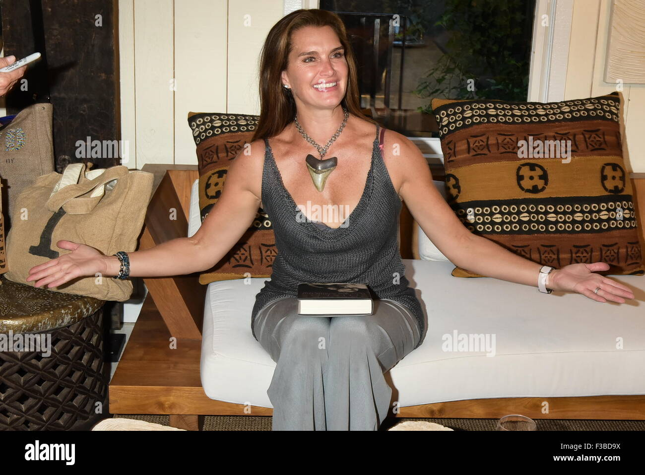 Brooke Shields Promotes And Signs Copies Of Her New Book U0027There Was A  Little Girlu0027 At Urban Zen In Sag Harbor Featuring: Brooke Shields Where:  Sag Harbor, ...