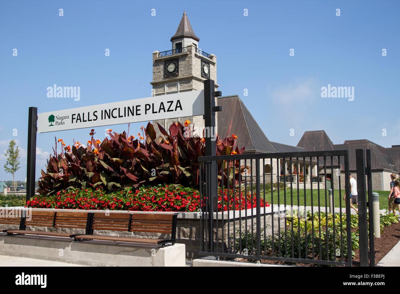 Niagara Falls Incline Plaza - Stock Image