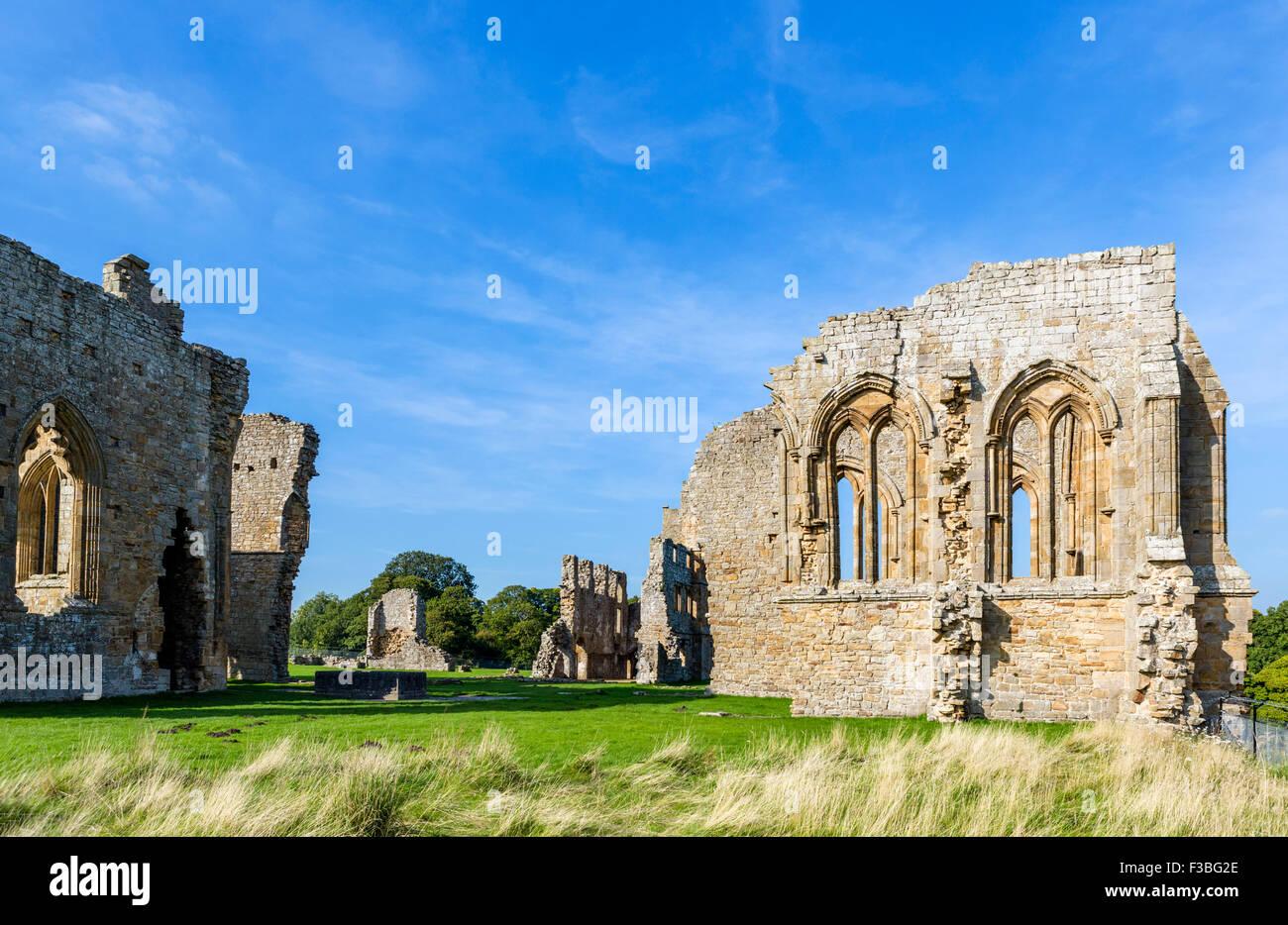 The 12thC Premonstratensian Egglestone Abbey, near Barnard Castle, County Durham, England, UK - Stock Image