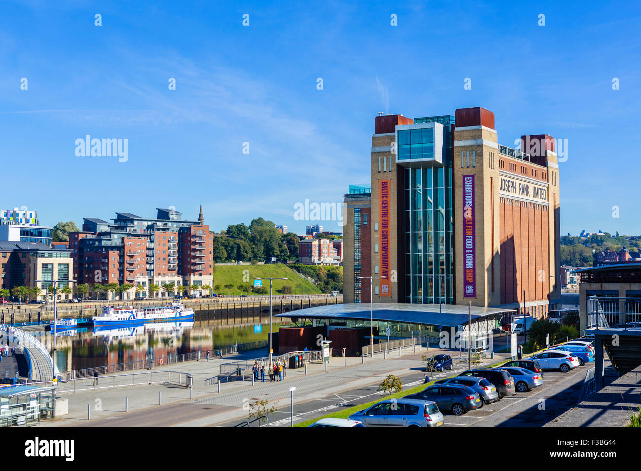 The Baltic Centre for Contemporary Arts on the River Tyne, Quayside, Gatesehead, Tyne and Wear, UK - Stock Image