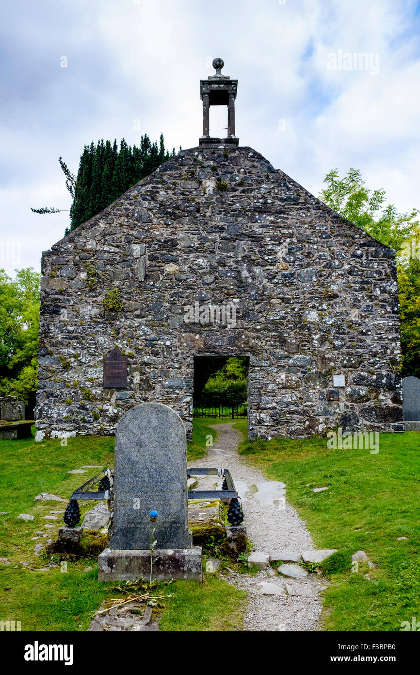 Old gravestones in Balquhidder Kirk Graveyard in the Trossachs, Scotland Stock Photo