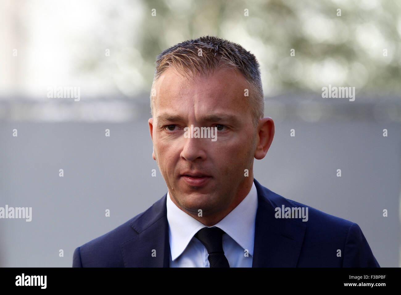 ITALY, Pordenone: Roberto Rigoni Stern lawyer of Giosu Ruotolo suspect during the case Double murder Trifone Ragone - Stock Image