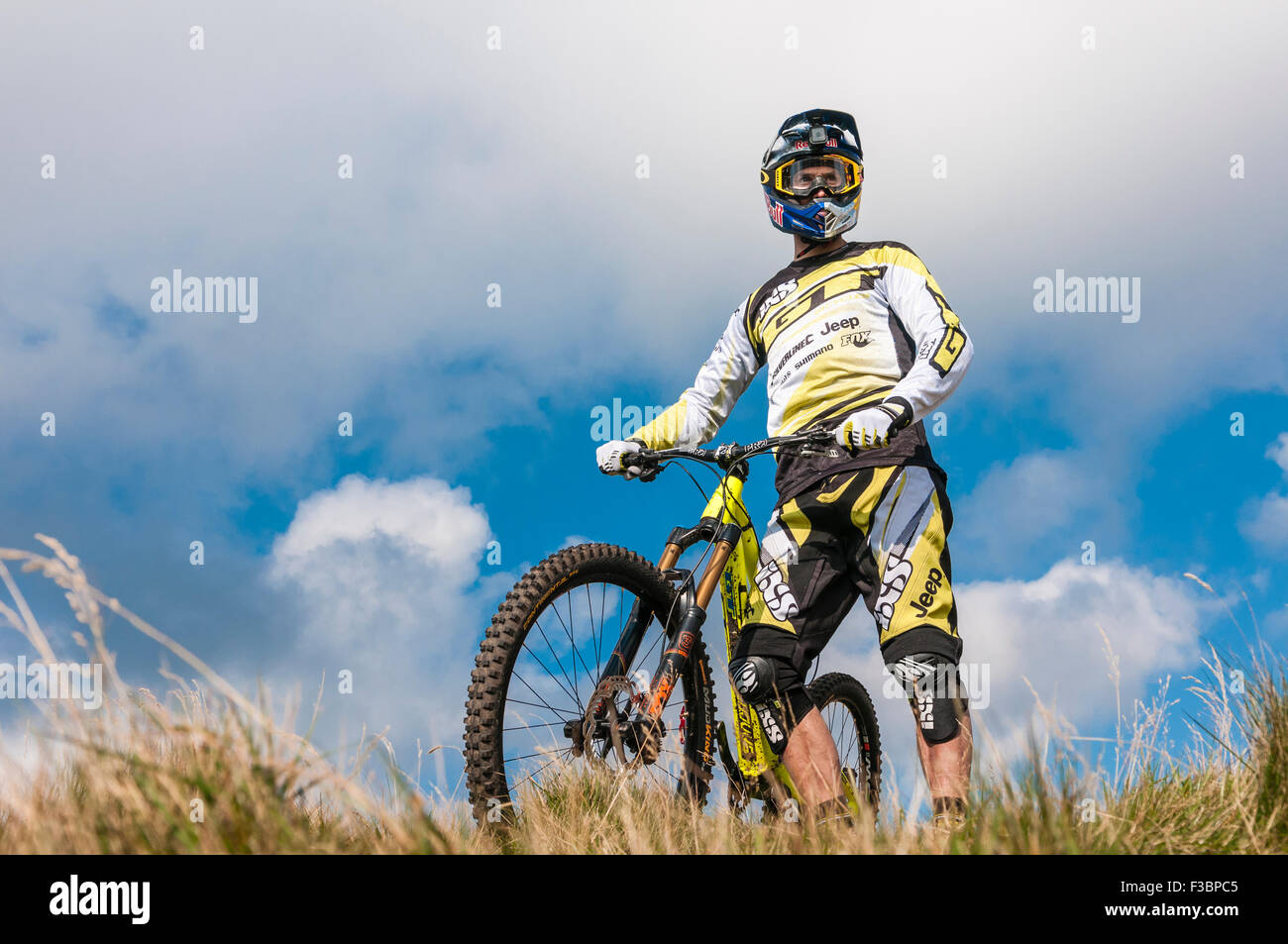 Rostrevor, Northern Ireland. 04 Oct 2015 - George 'Gee' Atherton, twice downhill world champion, is 'The - Stock Image