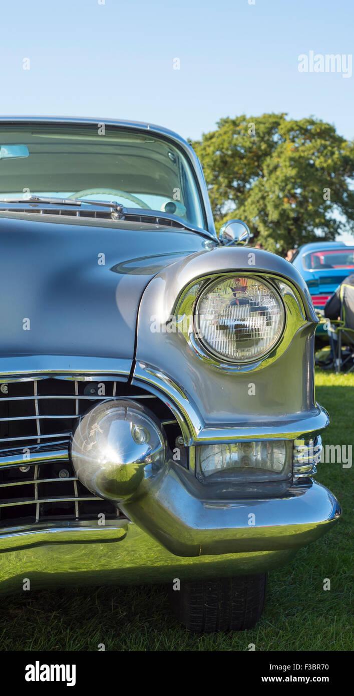 Cadillac Headlamp and Bumper - Stock Image