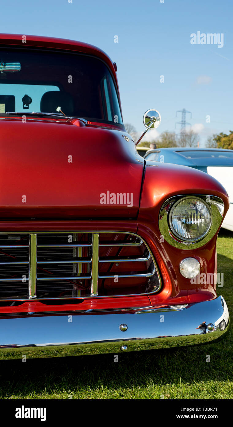 Headlamp and Grille - Stock Image