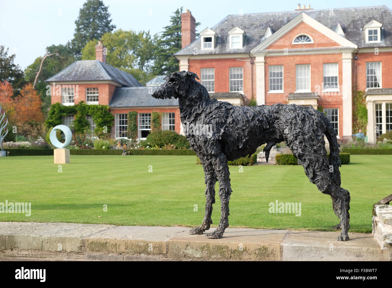 Newport House, Almeley, Herefordshire UK - Sunday 4th October 2015 - Opening day for the Out of Nature sculpture - Stock Image