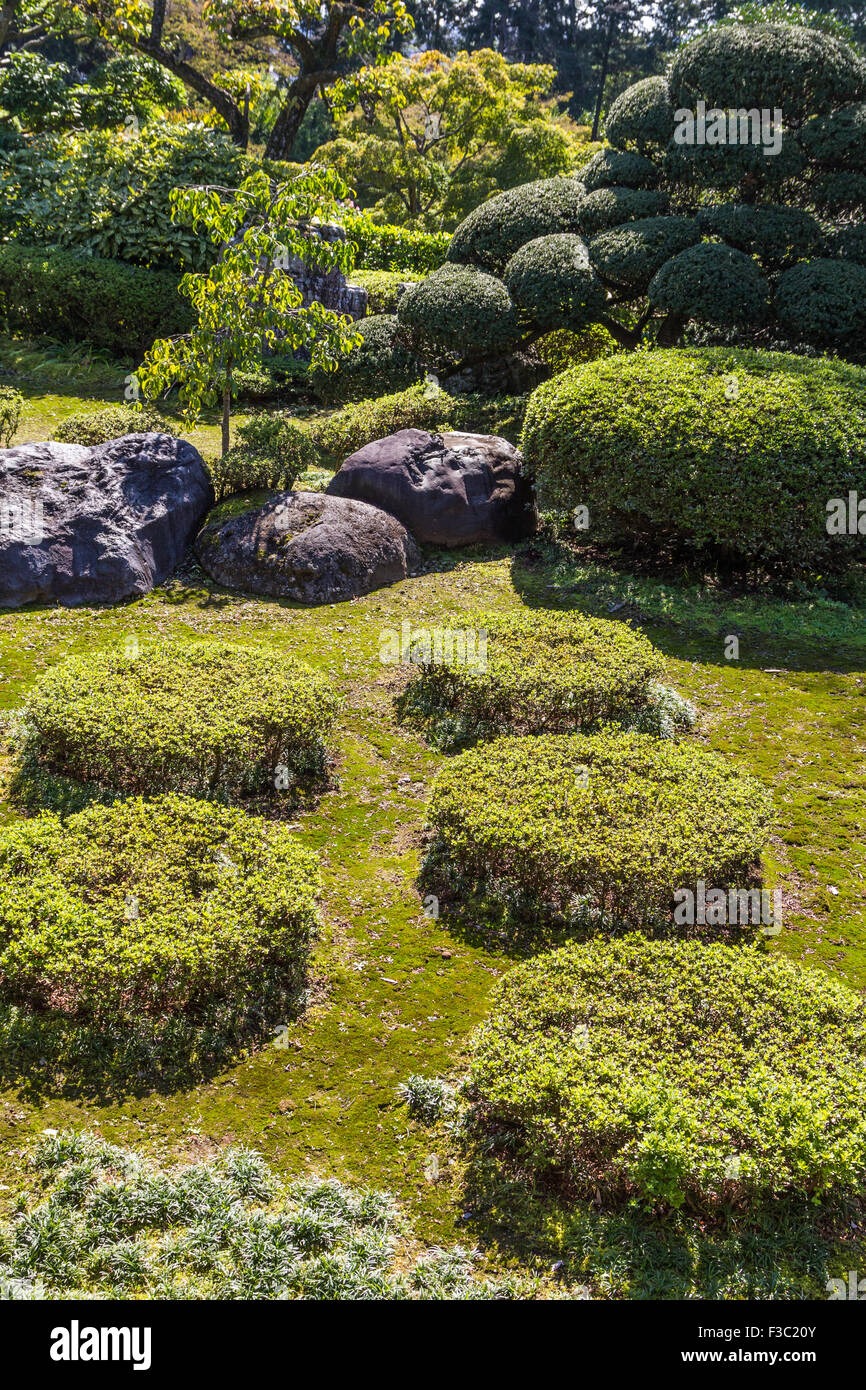 Nonin-ji Garden garden was created in the Momoyama Period and has been selected as one of the 100 famous Japanese - Stock Image