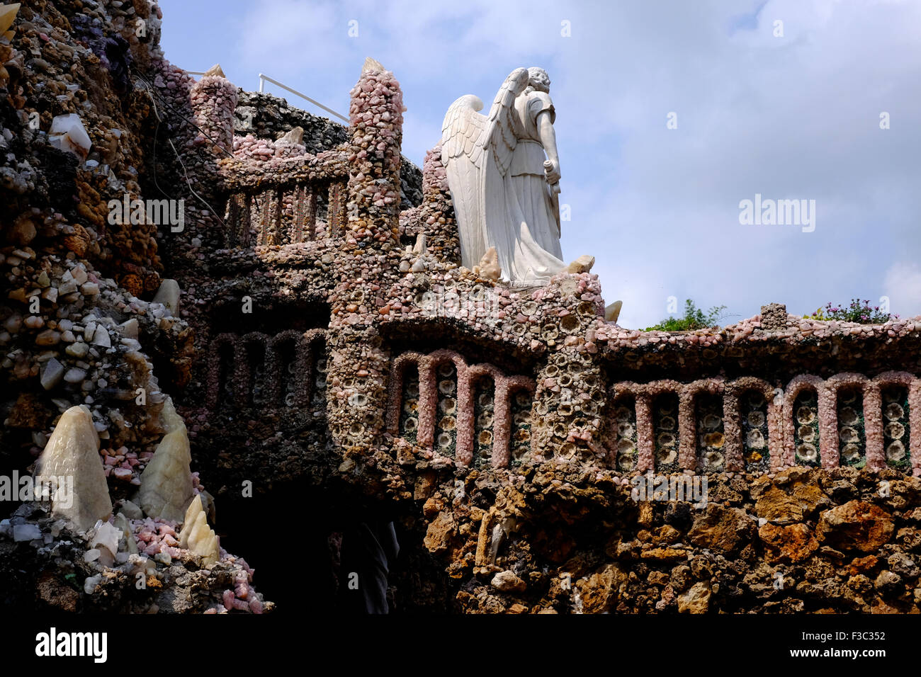 Grotto of the Redemption, West Bend, Iowa - Stock Image