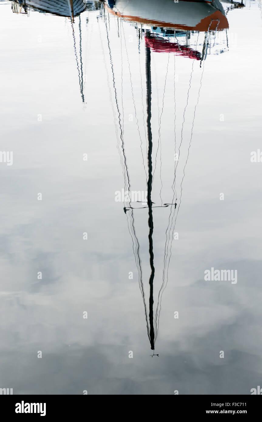 Boat reflexion - Stock Image