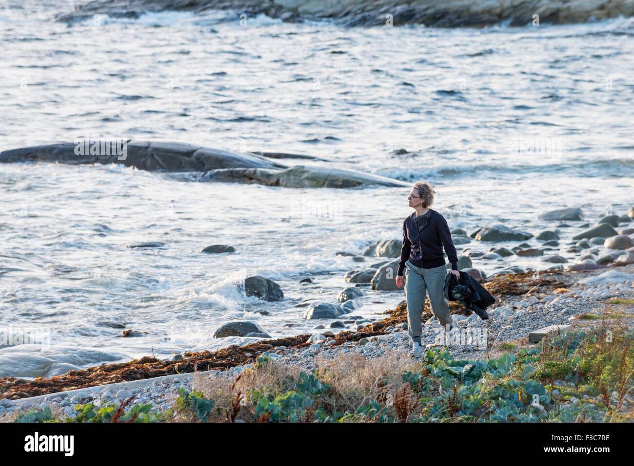 Walk by the sea - Stock Image