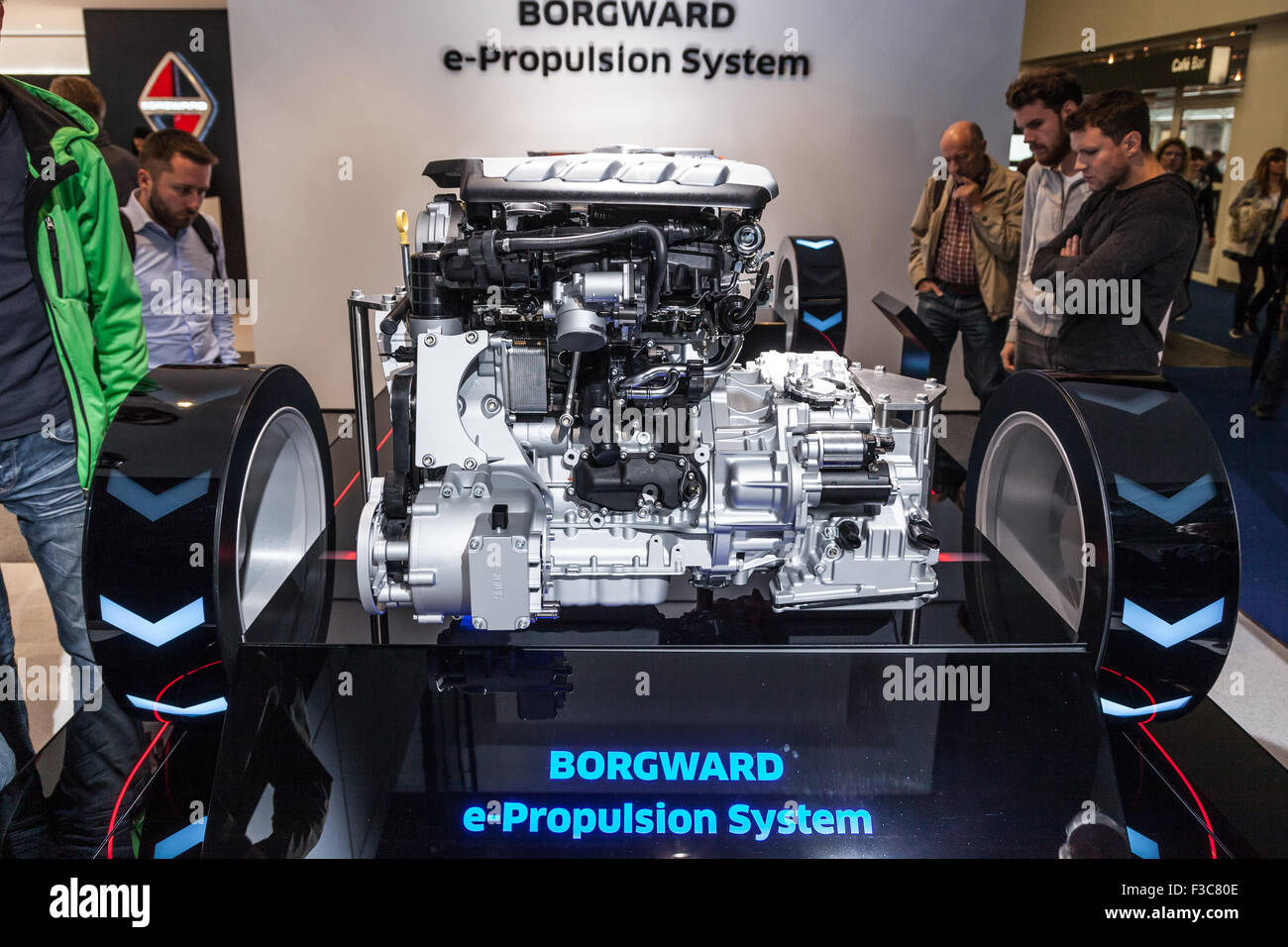 Borgward e-Propulsion Hybrid Transmission at the IAA International Motor Show 2015 - Stock Image