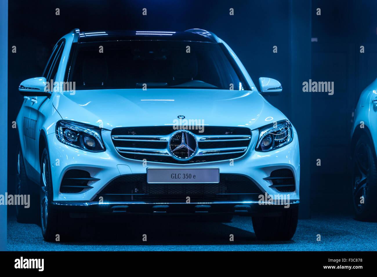 Mercedes Benz GLC 350 e at the IAA International Motor Show 2015 - Stock Image