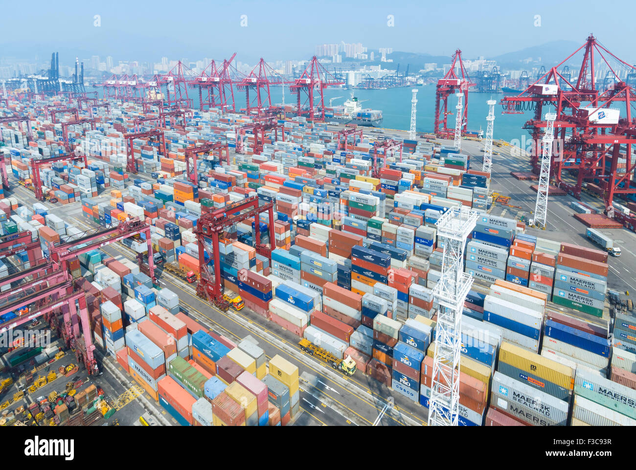 Container Terminal In China Hong Kong Stock Photos Container