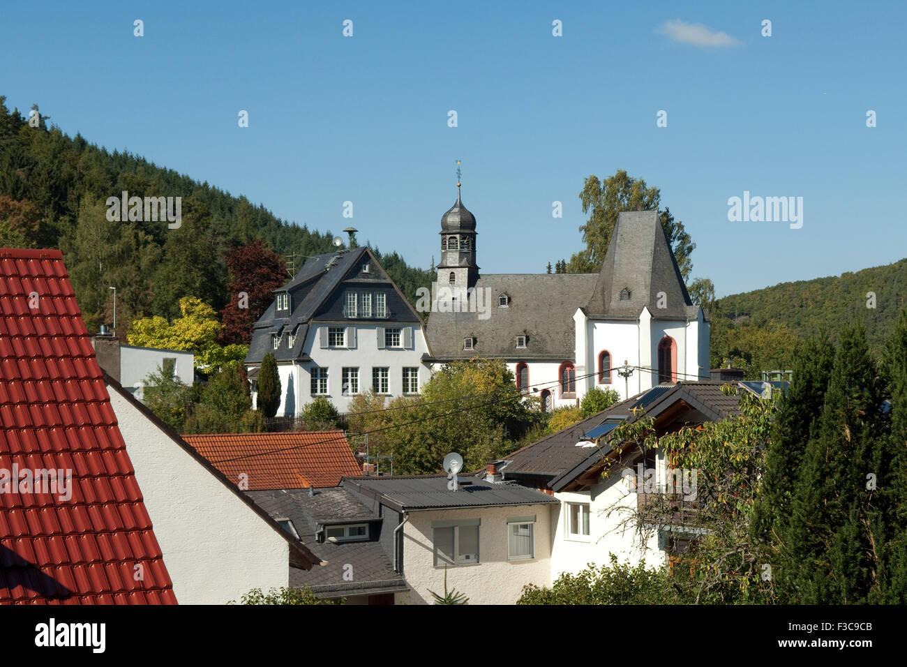 Kirche, Kirchen, Oberauroff, Idstein - Stock Image
