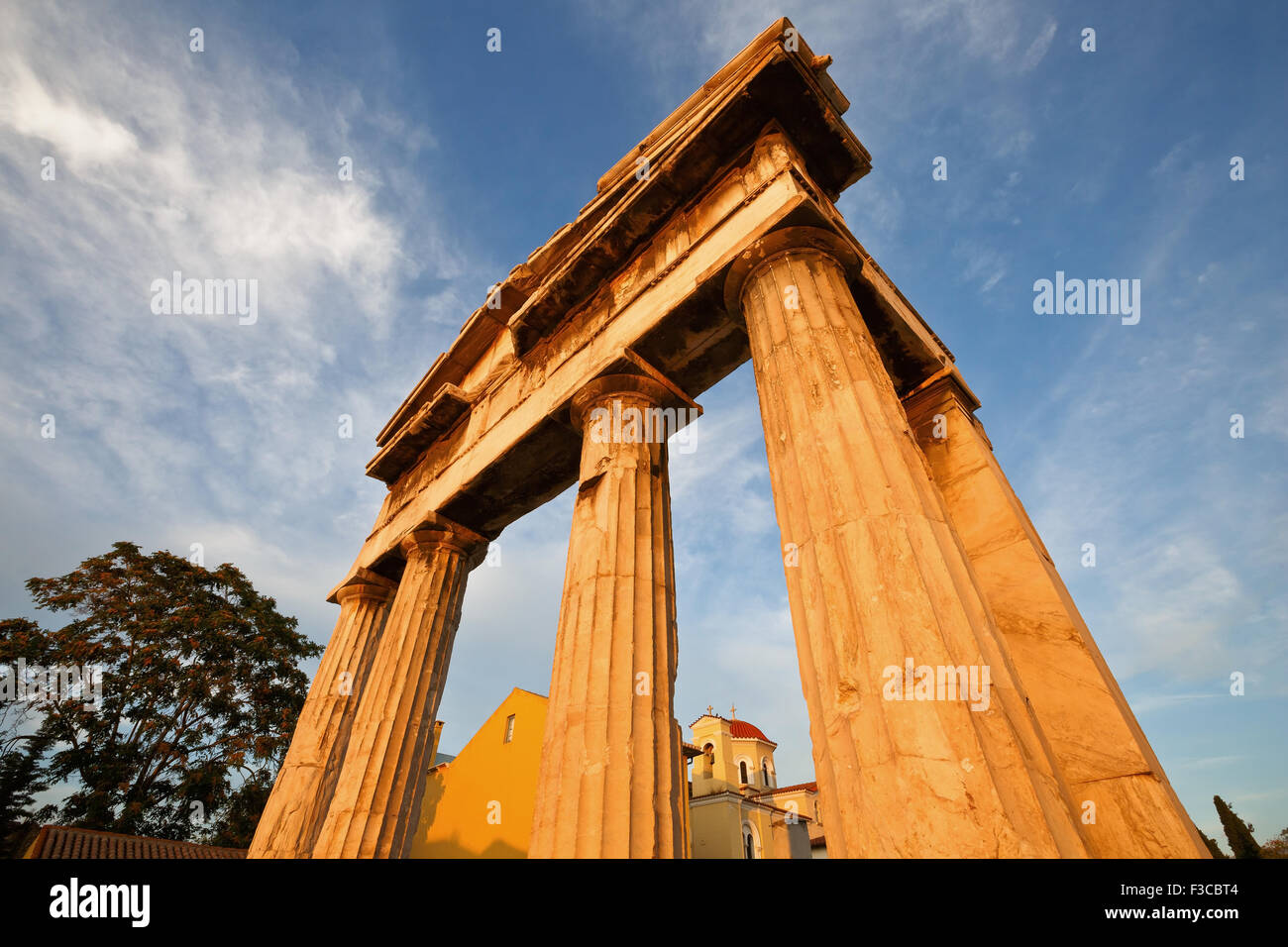 Remains of the Roman Agora in Athens, Greece - Stock Image