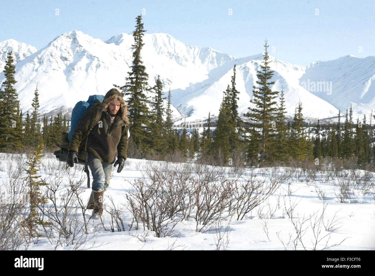 INTO THE WILD 2007 Paramount Vantage film with Emile Hirsch - Stock Image