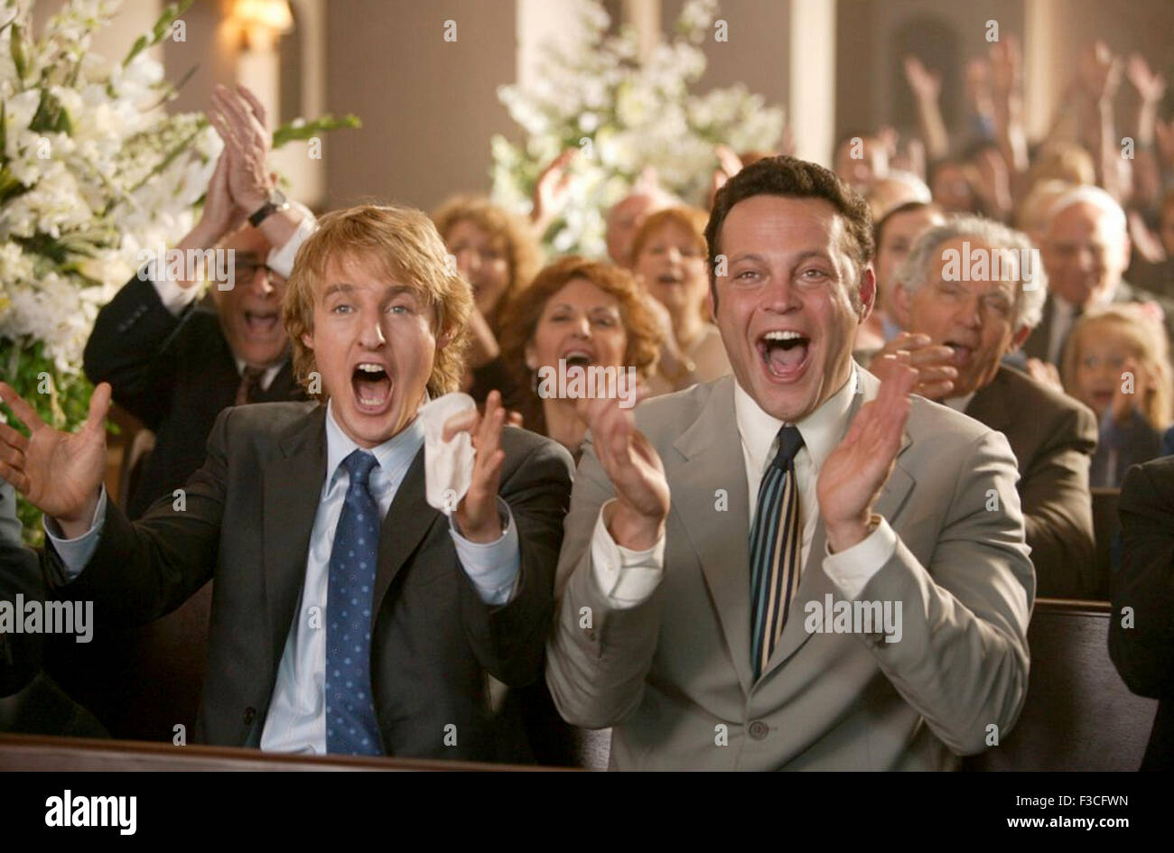 WEDDING CRASHERS 2005 New Line Cinema film with Vince Vaughn at right and Owen Wilson - Stock Image
