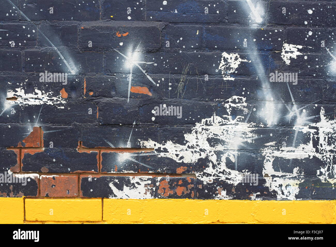 Spray paint wall - Stock Image