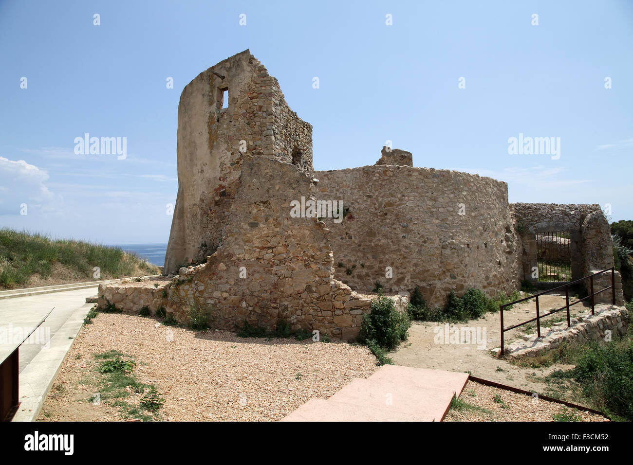 Castle of Sant Esteve de Mar 1063 Palamós Spain Costa Brava - Stock Image