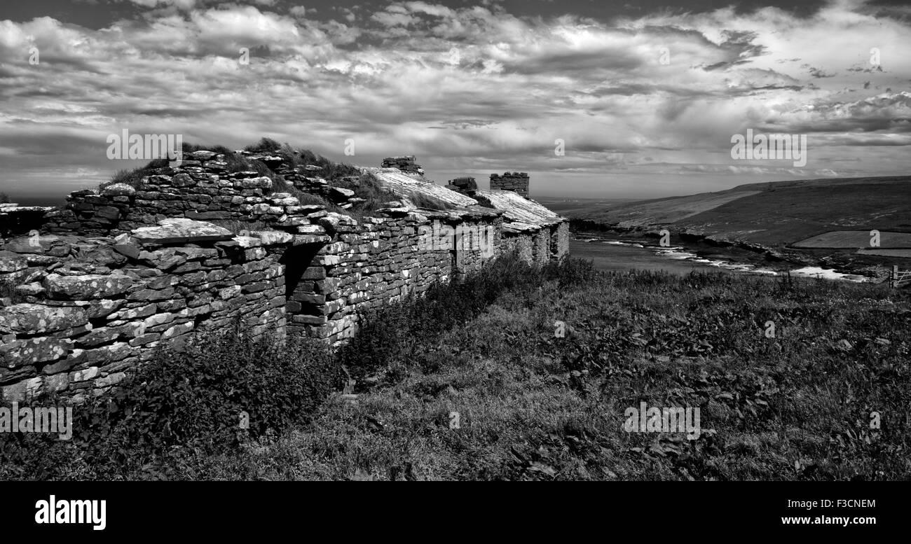 An abandoned croft house on the isle of Westray, Orkney, Scotland - Stock Image