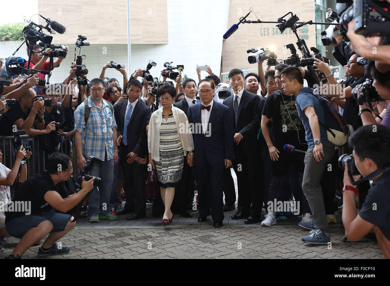 Hong Kong. 5th Oct, 2015. Donald Tsang Yam-kuen, former chief executive of the Hong Kong Special Administrative - Stock Image