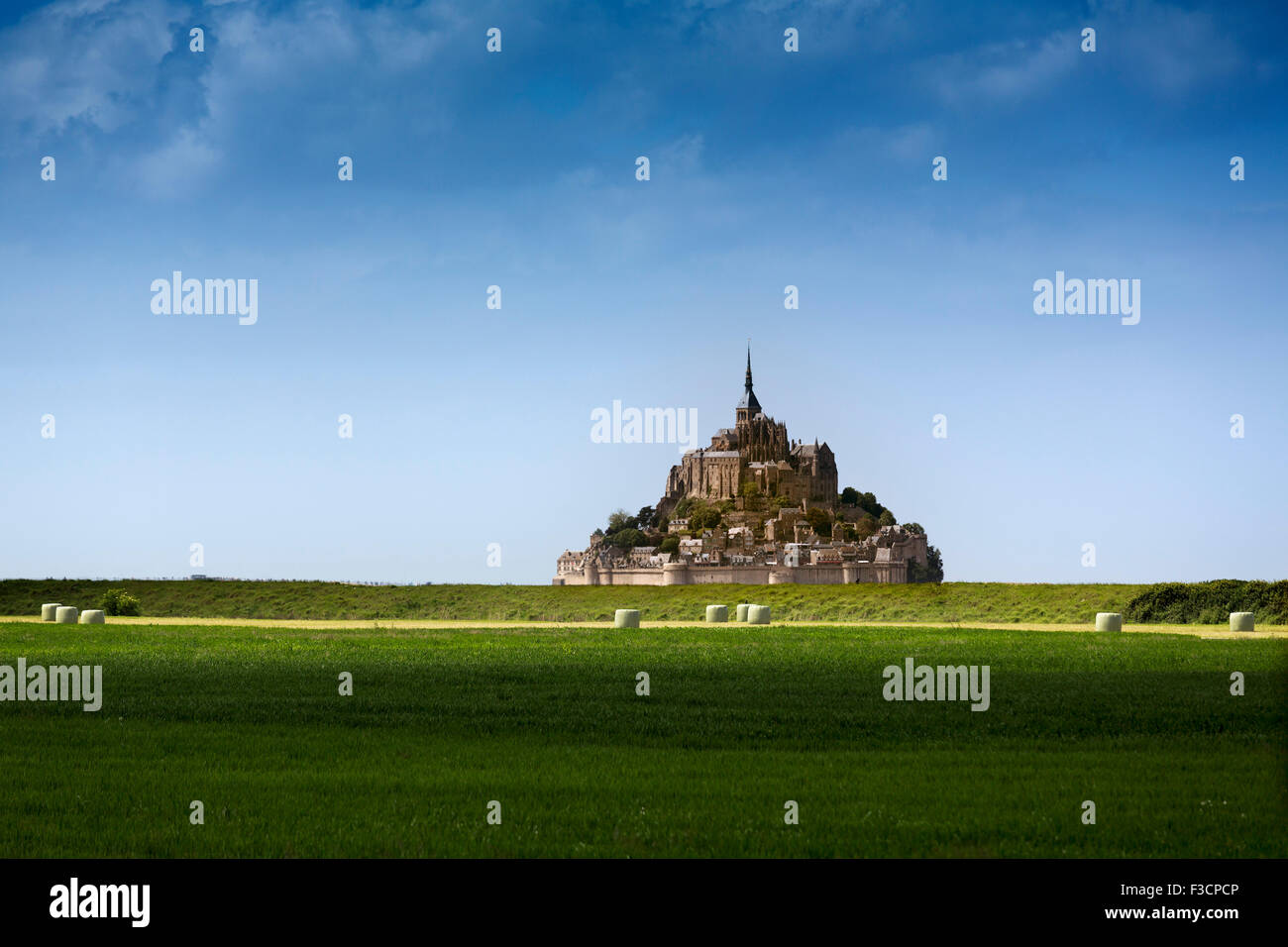Le Mont-Saint-Michel Saint Michael Mount Benedictine abbey Lower Normandy Manche France Europe - Stock Image