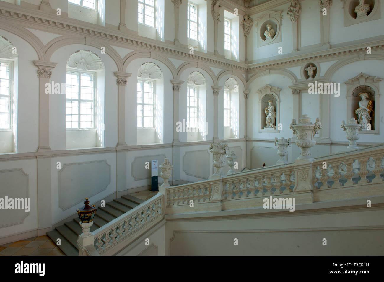 Österreich, Niederösterreich, Krems, Stift Göttweig, Kaiserstiege, Die figurale Ausstattung mit Statuen - Stock Image
