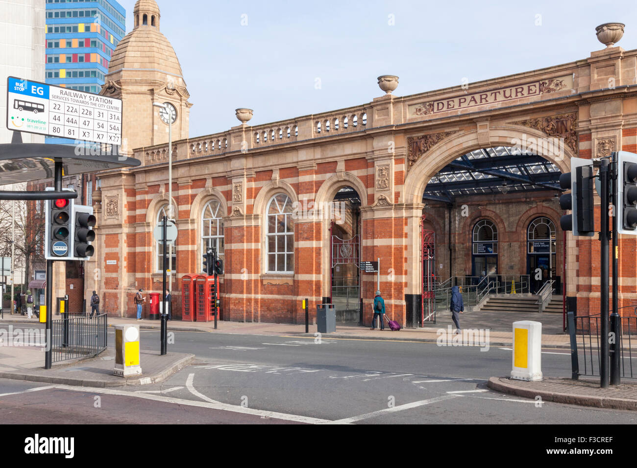 Leicester Railway Station, Leicester, England, UK - Stock Image